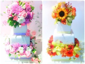 Cherie Kelly's Open Stacked Cake with Fresh Flowers