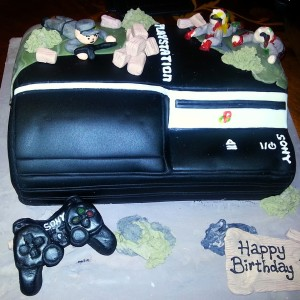 Cherie Kelly's Playstation PS3 Cake