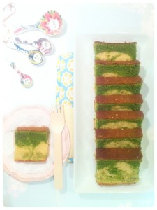 Cherie Kelly's Matcha Green Tea Marble Cake