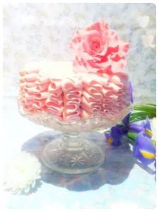 Cherie Kelly's Victoria Sponge Ruffle Cake with Sugar Rose