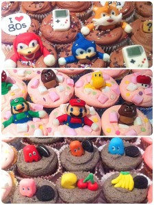 Cherie Kelly's Super Mario, Sonic The Hedgehog and Pacman Cupcakes