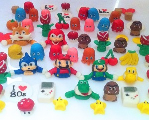 Cherie Kelly's Super Mario, Sonic The Hedgehog and Pacman Cupcake Toppers