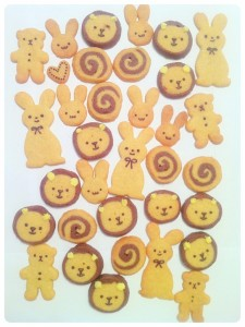 Cheire Kelly's Bunny Rabbit, Lion, Bear and Swirl Icebox Butter Cookies