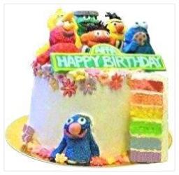 Cherie Kelly's Sesame Street Rainbow Cake