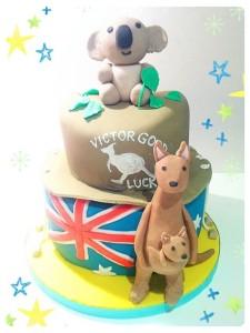 Cherie Kelly's Australian Koala Bear and Kangaroo Chocolate Mud Cake
