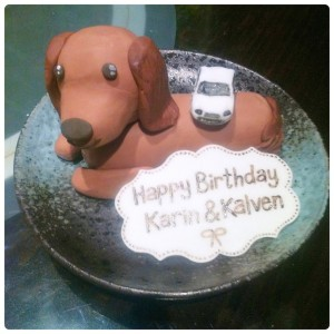 Cherie Kelly's Puppy Dachshunds Royfert Lemon & Blueberry Cake