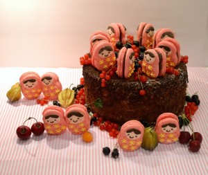 Cherie Kelly's Black Forest Gâteau with Russian Doll Macarons
