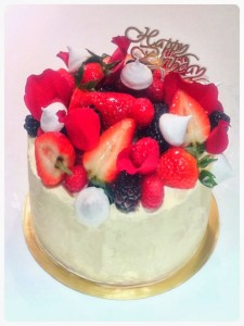 Cherie Kelly's Fresh Cream Strawberry Cake