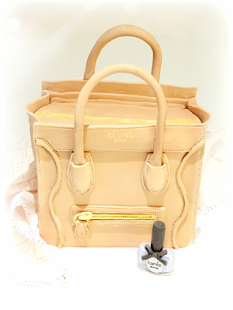 Cherie Kelly's Céline Boston Tote Handbag Cake
