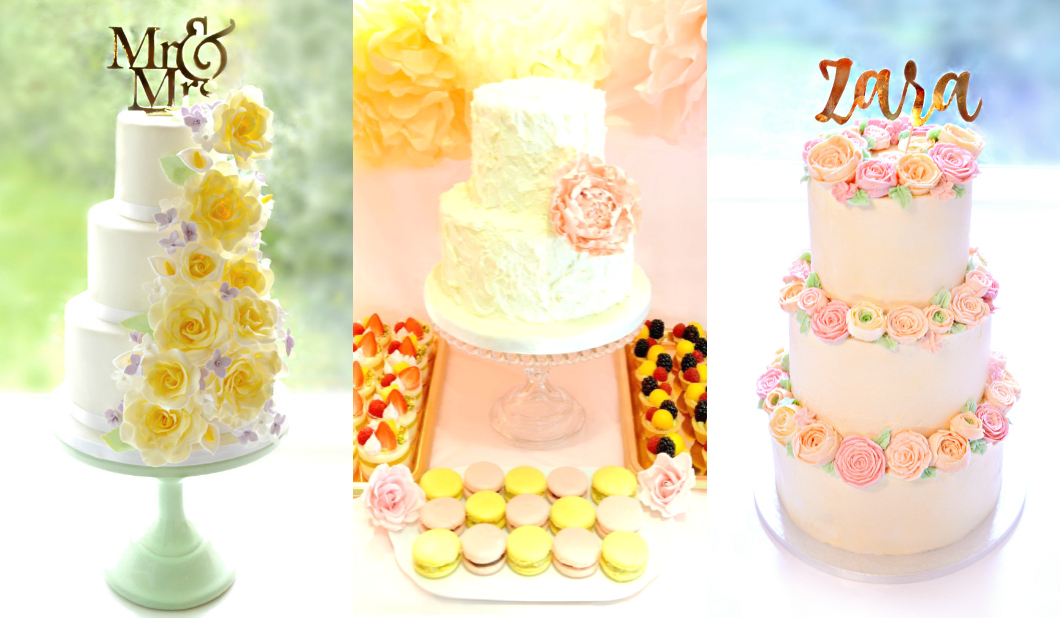 Buttercream Wedding Cake and Dessert Table Cherie Kelly London