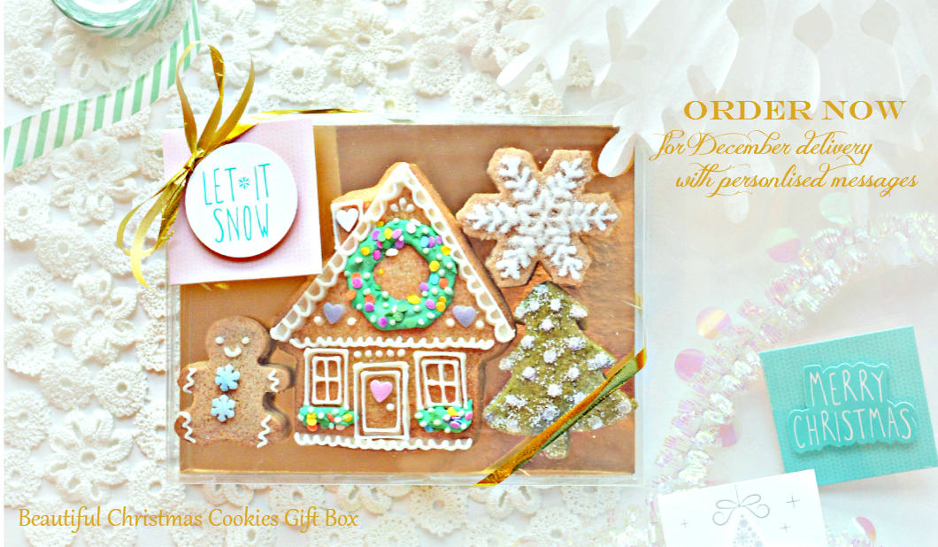 Order Online Beautiful Christmas Holiday Cookies Gift Box Cherie Kelly London