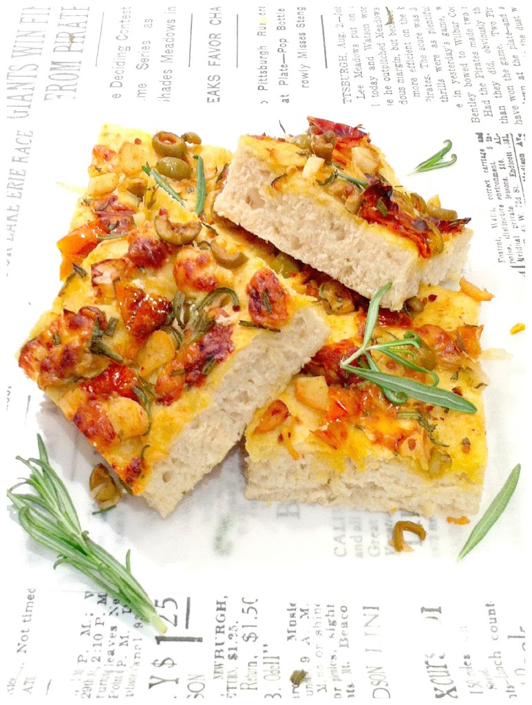 Cherie Kelly's Rosemary and Sun-dried Tomato Italian Focaccia