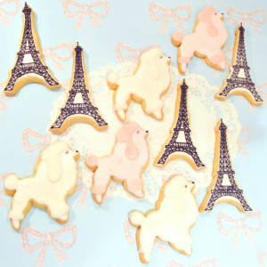 Poodle Dog and Eiffel Tower Sugar Cookies