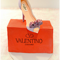 Valentino High Heels and Shoe Box Cake