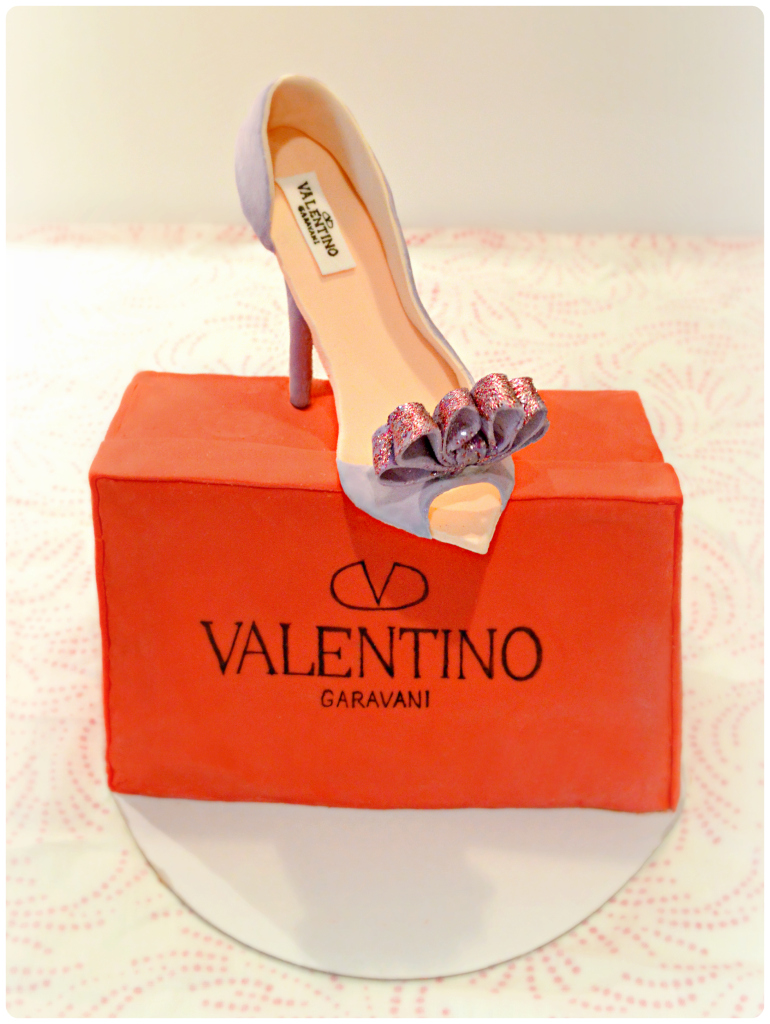 Valentino Bow High Heel And Shoe Box Cake Ch 233 Rie Kelly
