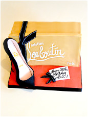 Christian Louboutin Black High Heel Shoe Box Birthday Cake Cherie Kelly Cake London