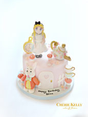 Alice in the Wonderland Pastel Birthday Cake Cherie Kelly London