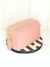 Anya Hindmarch Studded Cosmetic Bag Cash Salted Caramel Birthday Fashion Cake Cherie Kelly London