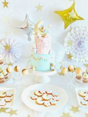 Baby twinkle star and moon 100 days first birthday cake dessert table Cherie Kelly London Hong Kong