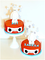 Baymax and Robot Helmet Birthday Cake London Cherie Kelly