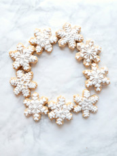 Beautiful Snowflake Christmas Almond Cookies Wreath Cherie Kelly London