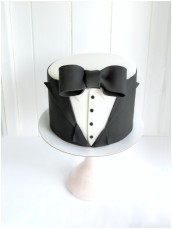 Black Tie Tux James Bond Themed Birthday Cake for Men
