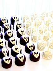 Bride and Groom Chocolate Cake Pops Wedding Favour Cherie Kelly London