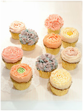 Buttercream Piped Flowers Cupcakes Cherie Kelly Cake London