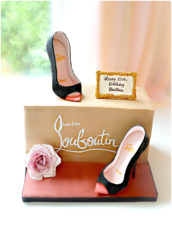 Christian Louboutin Black High Heel Peep Toe Shoes Pumps Box Birthday Cake Cherie Kelly London