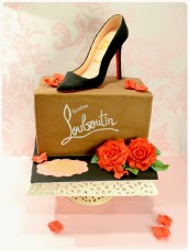 Christian Louboutin Pigalle High Heel Shoe Box Cake Cherie Kelly Cake London