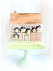 Dad's 60th Birthday Family House Cake Matcha Green Tea Red Bean Flavour London