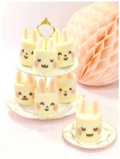 Japanese Deco Bunny Rabbit Roll Cake Birthday Cake London Cherie Kelly