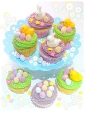 Easter Bunny and Chicks Yuzu Citrus Cupcakes Cherie Kelly Cake London