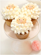 Easter Sheep Marshmallow Cupcakes  Cherie Kelly Cakes London