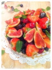 Figs and Berries Fruit Tart Cherie Kelly Cake London