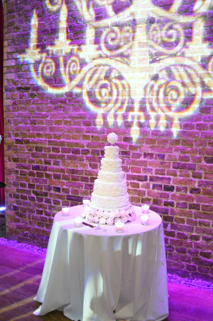 Floral, Pearls and Beads Applique Pomander Wedding Cake at Vinopolis London