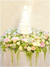 Flowers, Pearls and Beads Applique Pomander Wedding Cake  Cherie Kelly London