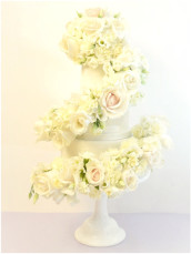 Fresh Flowers Roses Cascade Wedding Cake  Cherie Kelly Wedding Cake London