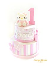 Hello Kitty Pink Number One First Birthday Girl Cake Cherie Kelly London