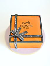Hermes Orange Gift Box with Ribbon Cake Cherie Kelly London