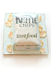 Kettle Chips Cake with Sugar Crisps Cherie Kelly London