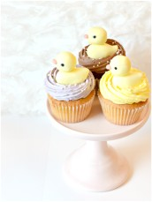 Little Duck Baby Shower Cupcakes