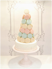Macarons Tower Wedding Cake in Pastel Colours Cherie Kelly London