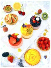 Passionfruit Mango Blueberry Blackberry  Raspberry Strawberry Cheesecake Figs Mango and Raspberry Tarts Cherie Kelly Cake London