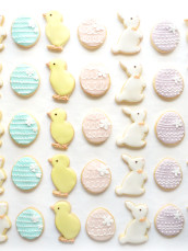 Pastel Easter Egg, Bunny and Chick Cookies Cherie Kelly London