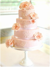 Pink Roses Wedding Cake Cherie Kelly London
