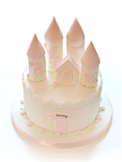 Pink and White Princess Castle Birthday Cake Cherie Kelly London