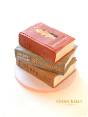 Stack of Books Embers Stalingrad Akhenaten Cake Cherie Kelly London