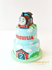 Thomas The Tank Engine Train Eggless Gluten Free Birthday Cake Cherie Kelly London