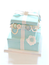 Tiffany Jewel Box 2 tiers Cake